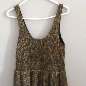 H&M Dresses - Gold sleeveless dress